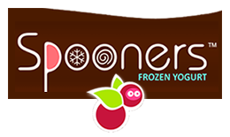 spooners frozen yogurt  Logo