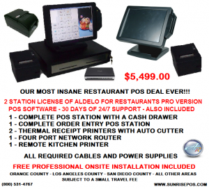 Insane Restaurant POS Deal 5499