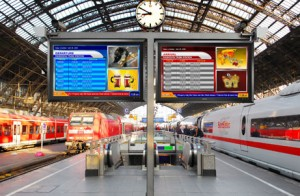 Rail Station Digital Signage 300x196 Digital Menu Boards